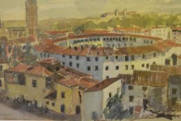 James Miller R.S.A., R.S.W., (Scottish 1893-1987), The Bull Ring, Tarragona, Spain, signed and