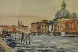 """James Miller R.S.A., R.S.W., (Scottish 1893-1987), """"Venice"""", signed, titled in the mount,"""