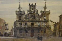 James Miller R.S.A., R.S.W., (Scottish 1893-1987), Astorga (Spain), signed and inscribed,