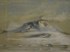 George E. Marston (1882-1940), A View of Mount Erebus, signed in pencil and dated 1.02.(19)08,