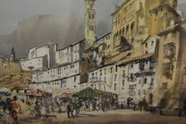 James Miller R.S.A., R.S.W., (Scottish 1893-1987), Tarazona (Spain), signed, titled in the mount,