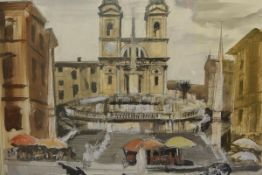 James Miller R.S.A., R.S.W., (Scottish 1893-1987), The Spanish Steps, signed, titled in the mount,