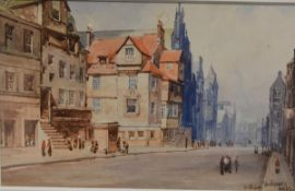 "John Blair R.S.A. (Scottish, 1850-1934), ""John Knox's House (Edinburgh)"", signed and inscribed lower"