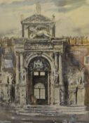 James Miller R.S.A., R.S.W., (Scottish 1893-1987), Gateway to the Arsenal, Venice, signature not