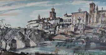"James Miller R.S.A., R.S.W., (Scottish 1893-1987), ""Tordesillas"", (near Valladolid, from across"
