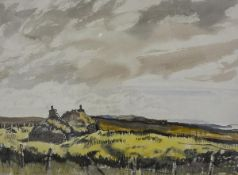 """James Miller R.S.A., R.S.W., (Scottish 1893-1987), """"The Ruin, Skye"""", watercolour, unsigned,"""