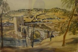 "James Miller R.S.A., R.S.W., (Scottish 1893-1987), ""Roman Bridge, Tuscane"" (sic), signed,"