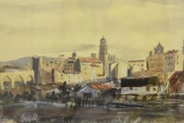 James Miller R.S.A., R.S.W., (Scottish 1893-1987), Teruel (Spain), signed, titled in the mount,