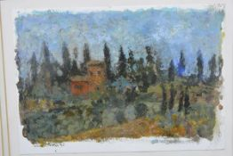 """Jennifer McRae (Scottish, b. 1959), Tuscan Scene II, inscribed """"Siena"""" and signed and dated (19)"""