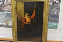 Circle of Jean-Louis-Ernest Meissonier (1815-91), An Officer of the Guard, unsigned, oil on panel,