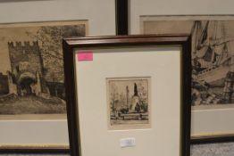 J. Hamilton Mackenzie R.S.W. (Scottish 1857-1926), three etchings, The Quay, Venice, etching,