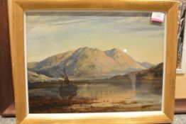 James Docharty A.R.S.A. (Scottish, 1829-1878), Loch Riddon, Kyles of Bute, signed, oil on board,