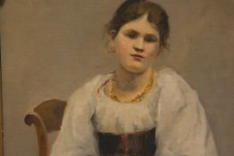 Continental School, c. 1900, Portrait of Carmen, inscribed and dated indistinctly, oil on board,