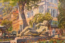 Arthur Ewan Forbes Dalrymple (b. 1912), Public Gardens, Menton, South of France, signed, oil on