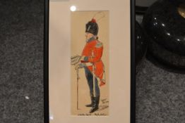 """Manner of Denis Dighton (1792-1827), """"A Military Inspector, Maj. Gen. Jenkinson"""" ink and"""