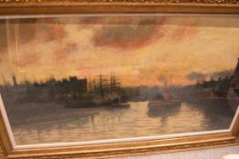 Andrew Black R.S.W. (1850-1916), The Broomielaw, Glasgow, signed and dated 1890, oil on canvas,