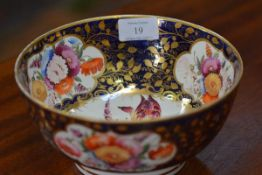 An English porcelain bowl, second quarter of the 19th century, possibly Coalport, painted to the