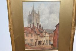James Whaite (British, fl. 1870-1916), The Church Tower, signed lower right, watercolour, in a