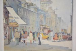 """Alastair Dallas (Scottish, 1898-1983), """"West End, Edinburgh"""", signed lower right, watercolour, old"""