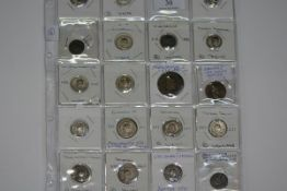 A page of nineteen Roman coins, mostly Antoninianus mid 3rd century, some better quality very fine