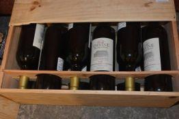 A case of twelve bottles of Chateau de La Devine, Saint Emilion 2008