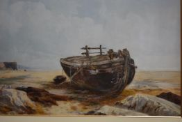 Henry Andrew Harper (British, 1835-1900), A Beached Boat, signed lower right and dated 1883,
