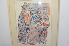 Silvio Loffredo (Italian, 1920-2013), Musicians, limited edition print, signed and inscribed in