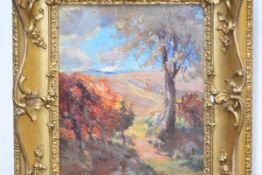 Charles Hodge Mackie (Scottish, 1862-1920), Grazing in the Shade, signed lower left, oil on panel,