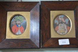 Anglo-Indian School, A Pair of Portrait Miniatures, early 19th century, the first inscribed