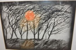 Walter Hoyle (1922-2000), Winter Trees, etching (margins concealed by mount), framed. 56cm by 77cm