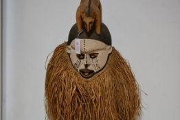 A Suku Kakungu (Democratic Republic Congo) Festival or Ceremonial mask, the painted face with