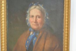 """Attributed to George Paul Chalmers, R.S.A., R.S.W. (Scottish 1833-78), """"Mina Currie ("""