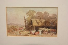 Attributed to Alfred Baker, Oxen, Leicestershire, unsigned, watercolour on paper, Ruskin Gallery,