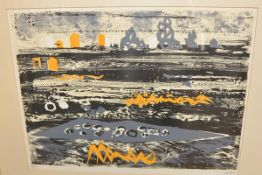 •John Piper (British, 1903-1992), Beach in Brittany, lithograph in colours, signed in pencil, ed.