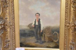 Manner of William Collins R.A. (British, 1788-1847), The Fisher Boy, oil on canvas, bearing