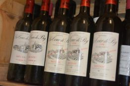 A mixed case of eleven bottles comprising six bottles of Chateau Cissac Medoc, various years