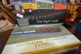 Two Graham Farish by Bachmann boxed model rail sets: Cumbrian Mountain Express, N gauge; and The