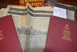 Royal Memorabilia: two souvenir books commemorating the Coronation of George VI and Queen Elizabeth,