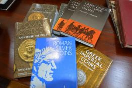 "A group of reference books on Coin Collecting including David R. Sear, ""Roman Coins and their"
