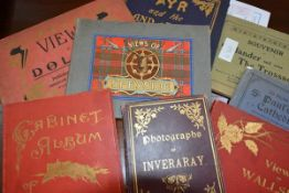 A group of vintage souvenir picture books of Scottish and other topographical subjects including