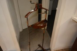 "A vintage valet stand, ""The Watts Dumb Valet"""