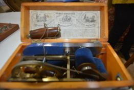 A late 19th century Magneto-Electric machine for nervous diseases, boxed with original paper label