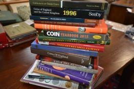 """A collection of nineteen volumes on coin collecting including, """"The Coinage of Roman Britain"""", """""""