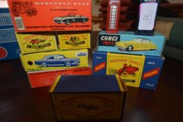 A group of model vehicles including a Corgi Citroen D.S. 19, model no. 210, boxed, Lesney Models