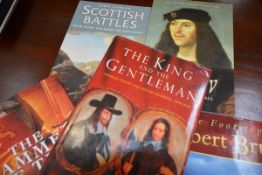 A large collection of reference books on English and Scottish history, both hardback and softback (a