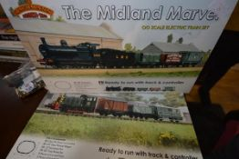 Two Bachmann model rail boxed sets, The Midland Marvel OO gauge and The Depot Master Graham Farish N