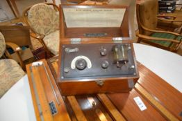 A British Thomson-Houston Co. Ltd crystal wireless receiver, type C, form A, in a teak case with G.