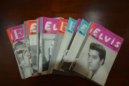 "A set of approximately forty Elvis monthly fan magazines, late 1950's/1960's, ""Always 100% Elvis"","
