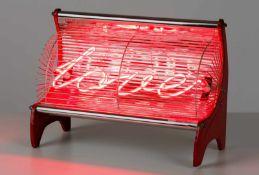 Sigalit Landau Jerusalem 1969 geb. LoveStove Metallblech, Glas (Neon), elektrisch installiert 27 x