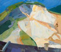 Heliane Wiesauer-Reiterer * Salzburg 1948 geb. Steinbruch V Öl auf Leinwand 130 x 150 cm 1971 rechts